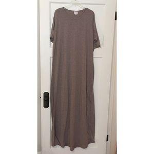 Lularoe grey T-shirt maxi dress 3X